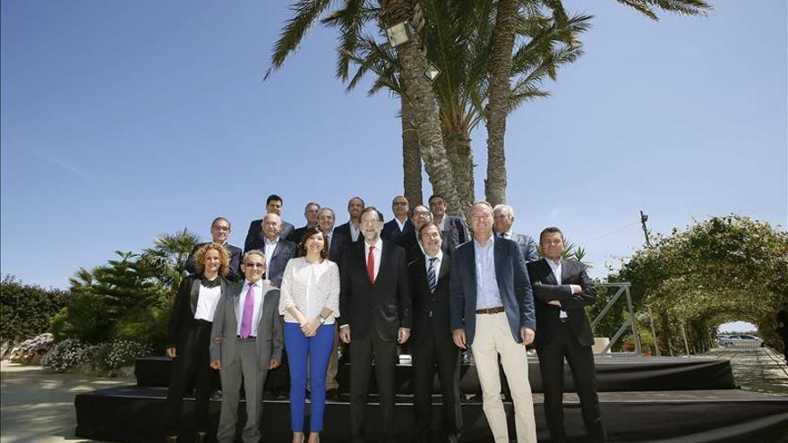 Rajoy almuerza con Fabra y varios empresarios de la provincia de Alicante