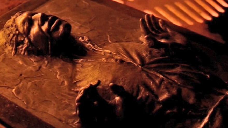 Han Solo, atrapado en un bloque de carbonita