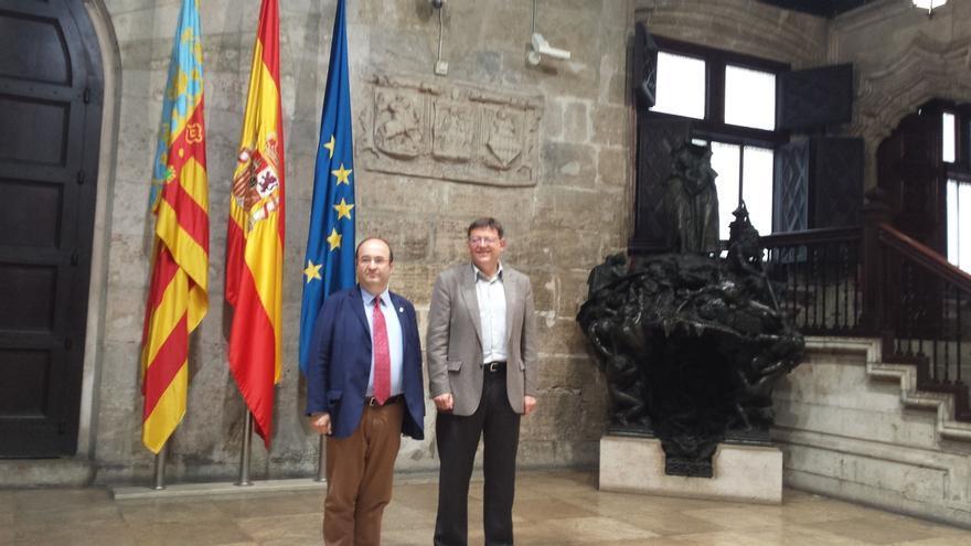 """Iceta y Ximo Puig apuestan por una España federal """"sin confrontaciones"""""""