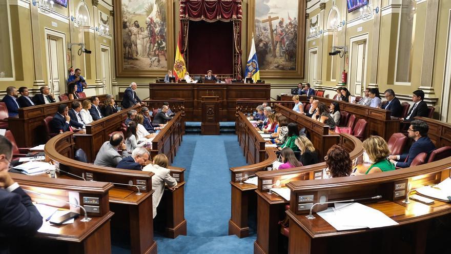Imagen de archivo de un pleno en el Parlamento de Canarias.