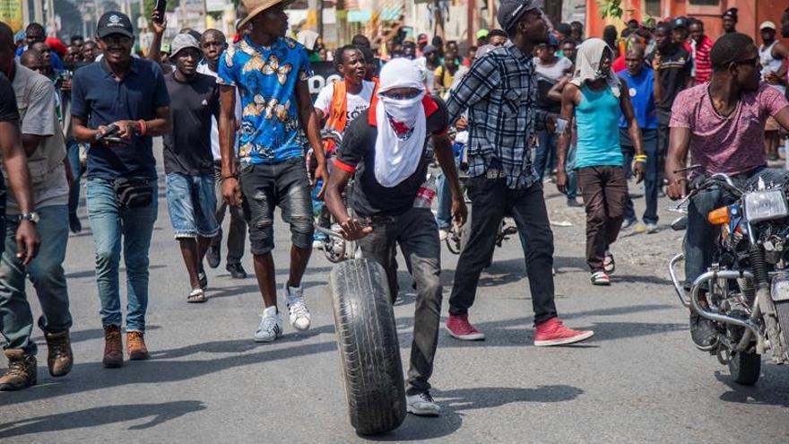 Multitudinaria protesta en Haití en el segundo aniversario del presidente Moise