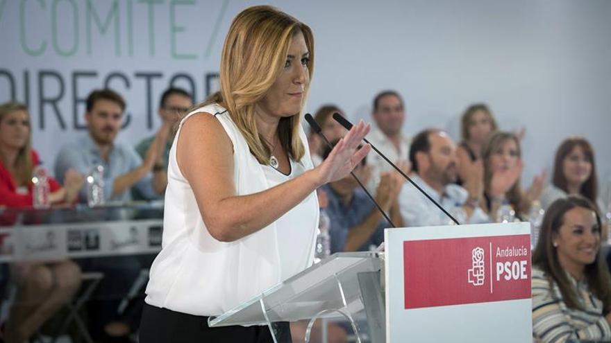 Susana Díaz pide que el Comité Federal vote si se nombra una gestora