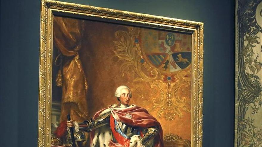 Los Reyes Juan Carlos y Sofía abren una muestra sobre el arte con Carlos III