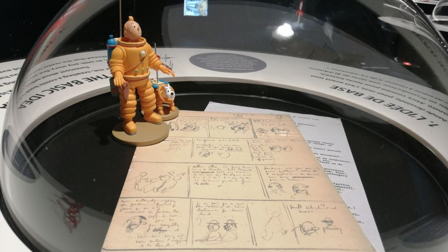 Exposición en el Caixa Forum de los 50 años de la llegada a la Luna |Foto: C.P.A.