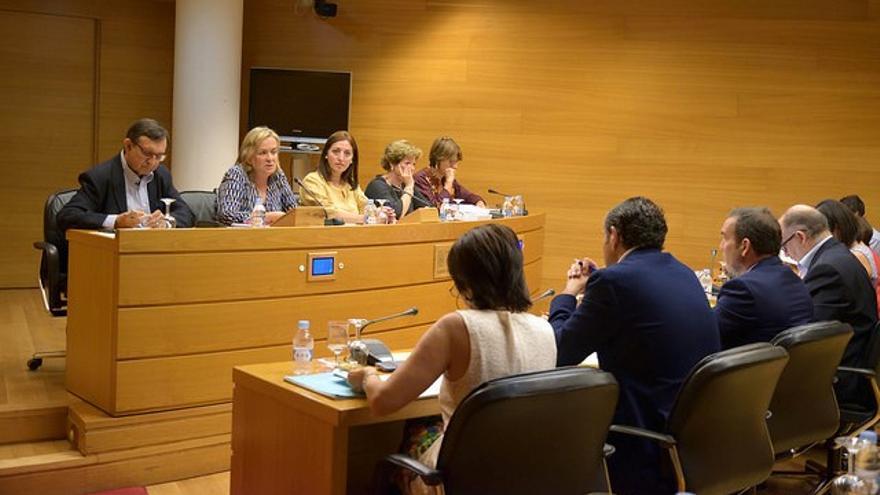 La exdirectora general de Feria Valencia, Belén Juste, durante su comparecencia en las Corts