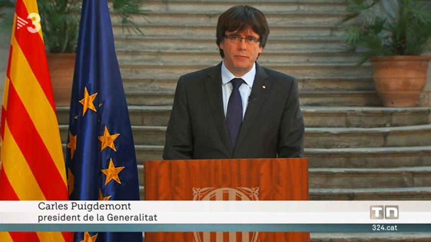 El Gobierno presenta una queja a TV3 por rotular a Puigdemont como president