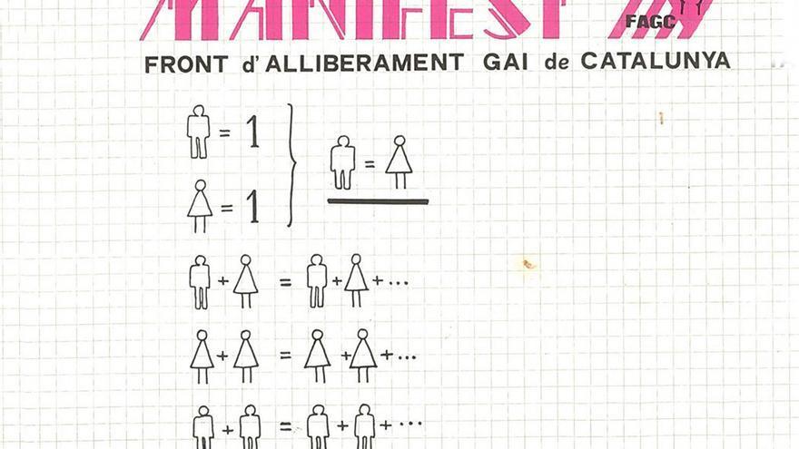 Manifiesto organizado por FAGC por la libertad Gay en Cataluña