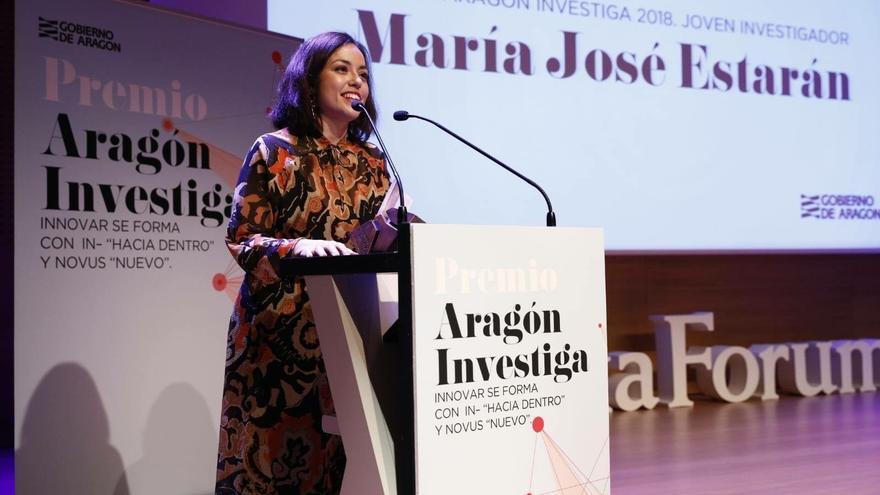 María José Estarán, galardonada en los X Premios Aragón Investiga