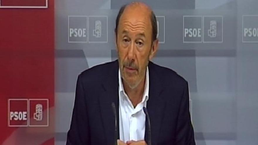 """Rubalcaba dice que ayer """"se descubrió"""" que Rajoy no piensa pedir el rescate hasta después de gallegas y vascas"""