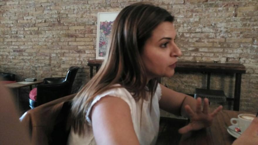 La periodista de Bahréin Reem Khalifa, en Madrid / David Perejil