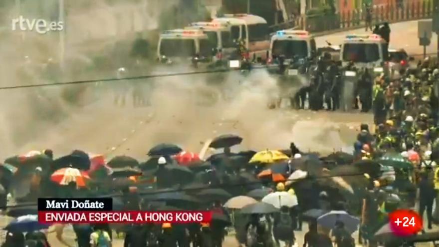 Complicada crónica de Mavi Doñate en medio de los disturbios en Hong Kong