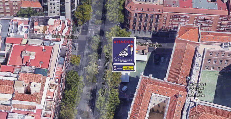Ubicación del semáforo rojo que multará en Alberto Aguilera | SOMOS MALASAÑA