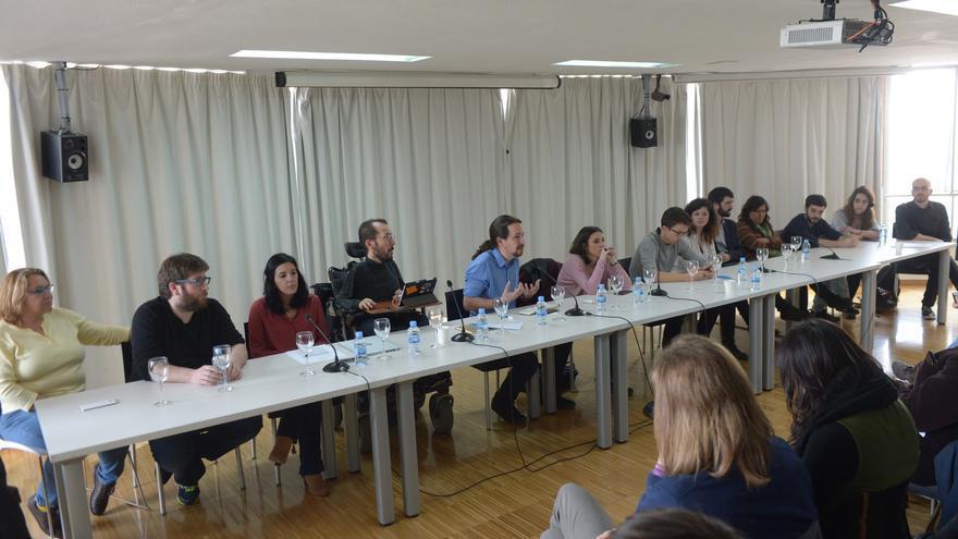 La ejecutiva de Podemos durante la primera reunión del Consejo Ciudadano, el pasado mes de febrero.