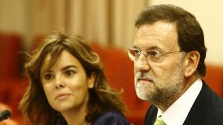 Mariano Rajoy y Sáenz de Santamaría, en el Congreso