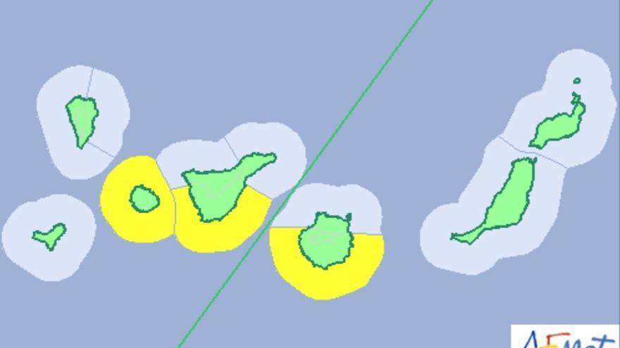 La Aemet activará el aviso amarillo por fenómenos costeros adversos este martes.