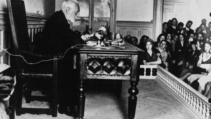 Conferencia de Unamuno sobre Catalunya en 1932