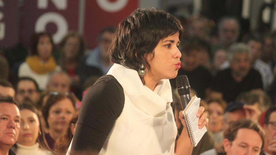 """Teresa Rodríguez dice que los presupuestos de la Junta """"huelen a franquismo"""" y que Andalucía """"necesita"""" a Iglesias"""