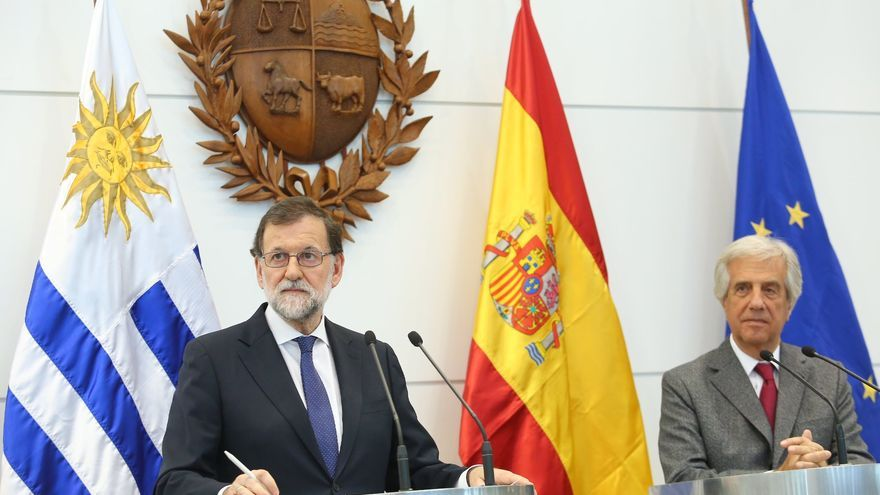 Rueda de prensa de Mariano Rajoy y del presidente de Uruguay, Tabaré Vázquez.
