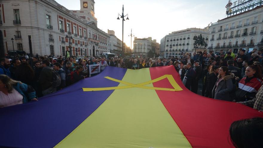 Imagen de la protesta en Sol.