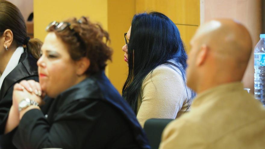 Algunos de los acusados en la lectura del veredicto, este martes en la Audiencia Provincial