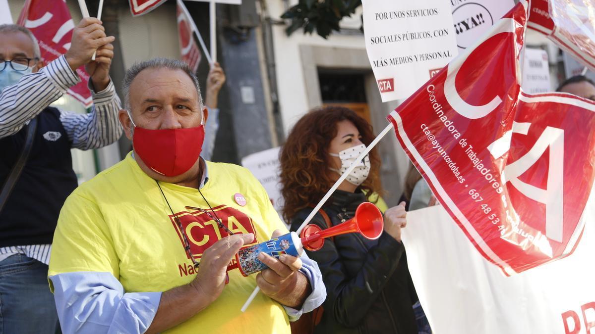 Imagen de archivo de una protesta de CTA ante el Ayuntamiento.