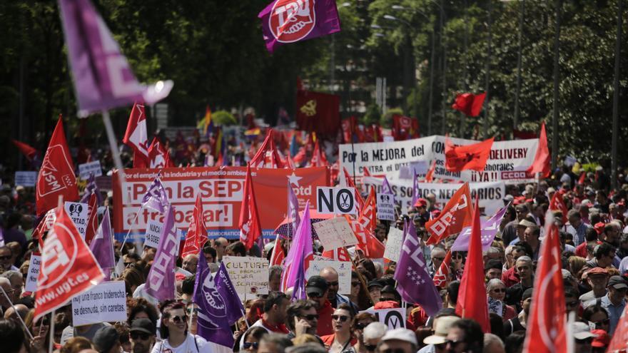 Manifestación del Primero de Mayo en Madrid