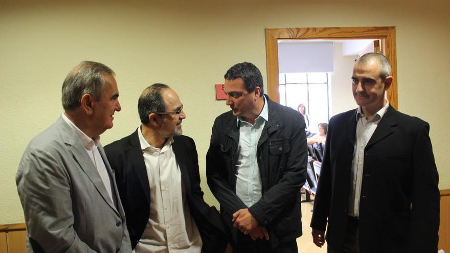 González Tovar (PSOE), Patricio Hernández (Foro Ciudadano), Pujante (Ganar) y Nebot (UPyD) / PSS
