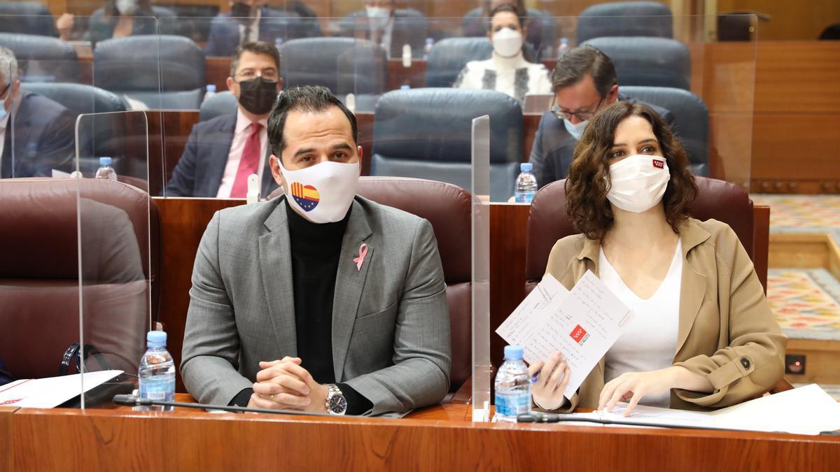El vicepresidente de la Comunidad de Madrid, Ignacio Aguado, y la presidenta, Isabel Díaz Ayuso.
