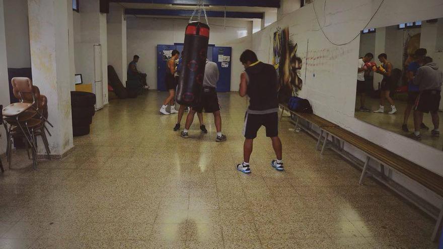 Unos alumnos del proyecto Hortaleza Boxing Crew