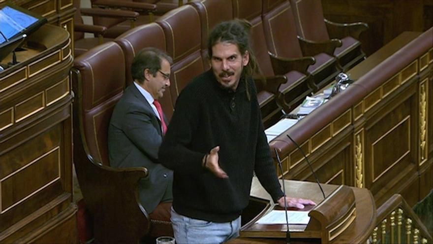 Alberto Rodríguez, desde la tribuna del Congreso