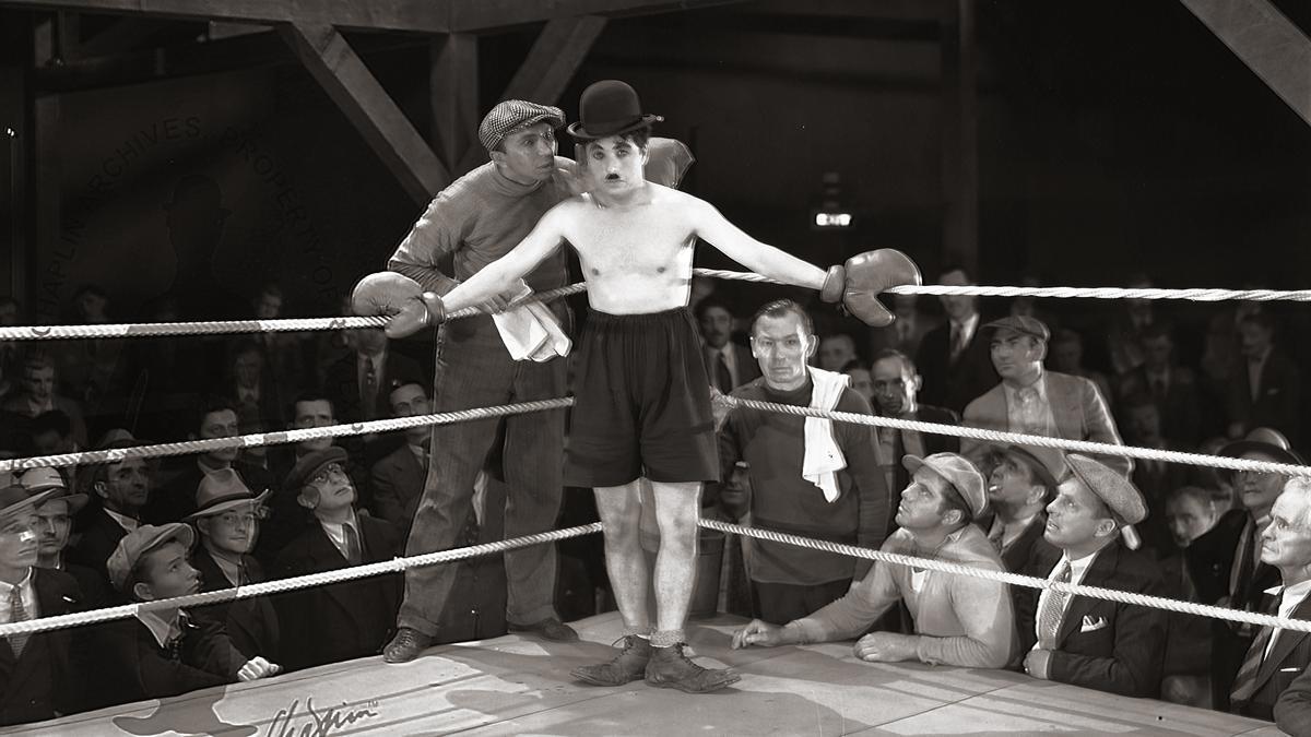 Fotografia del rodatge de 'City Ligths' (1931).