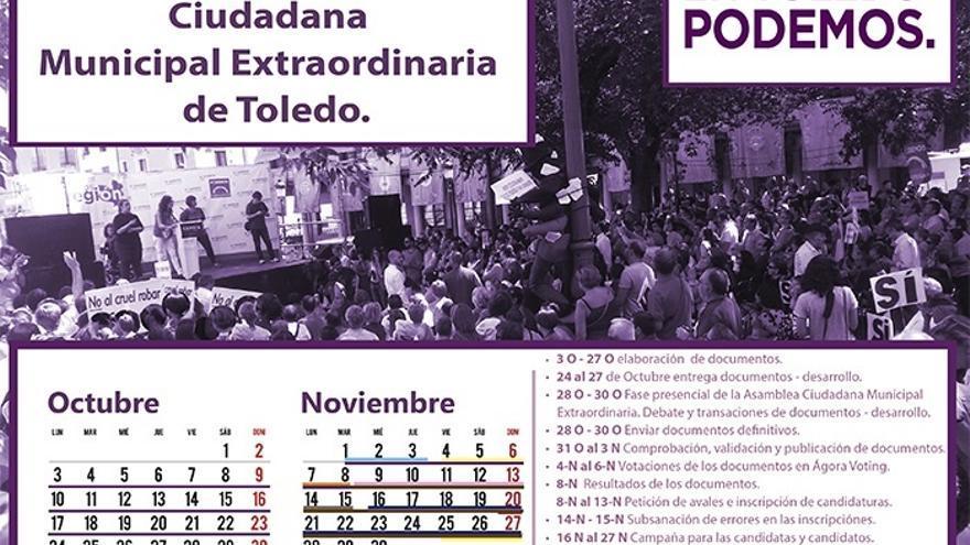 Díaz-Cardiel dimite como secretario general de Podemos Toledo y convoca una Asamblea Ciudadana Extraordinaria