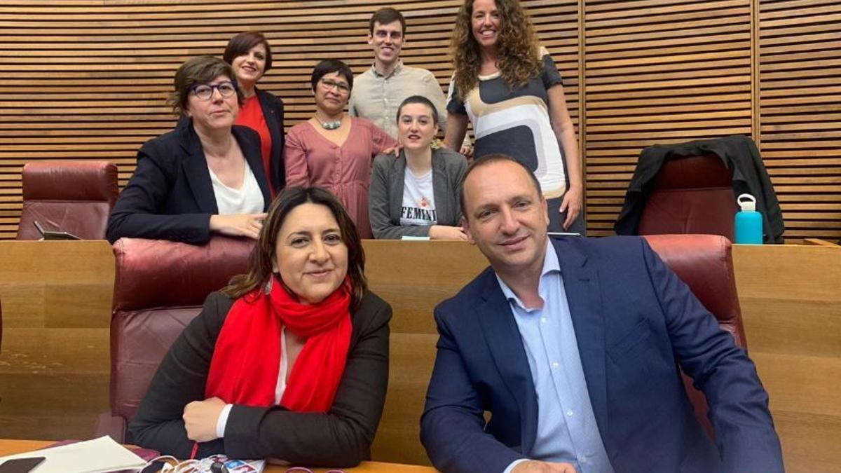 Rosa Pérez Garijo, Rubén Martínez Dalmau y el grupo parlamentario Unides Podem