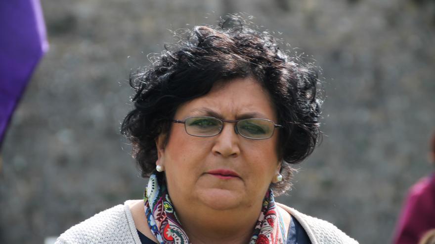 La presidenta de la Asociación de Familiares de Fusilados de Navarra, affna36, Olga Alcega.