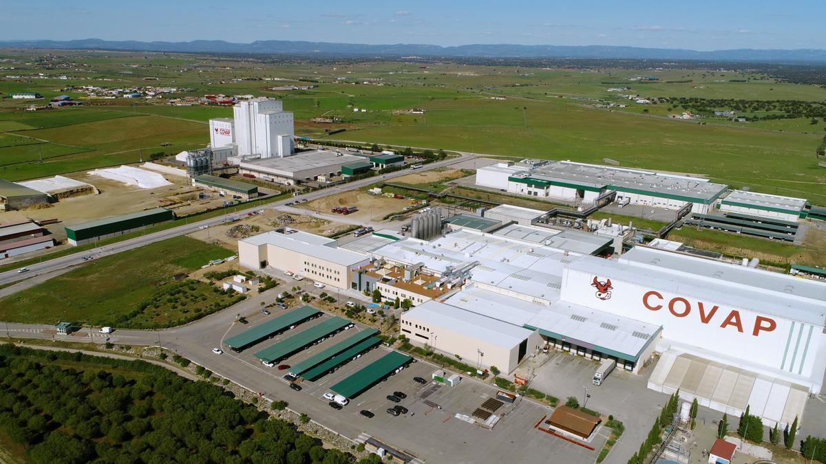 Vista aérea de las instalaciones de Covap en Pozoblanco