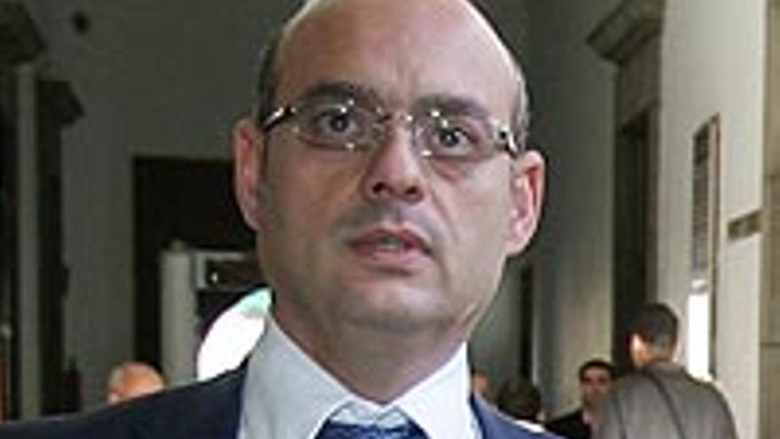 José Antonio Choclán, fotografiado en el TSJC cuando fue a asistir a Manolo Fernández.