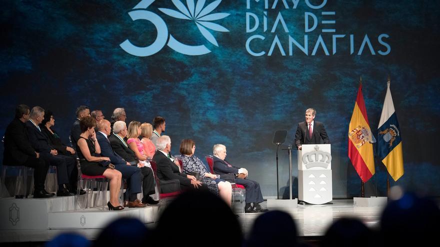 Fernando Clavijo durante su discurso con motivo del Día de Canarias.