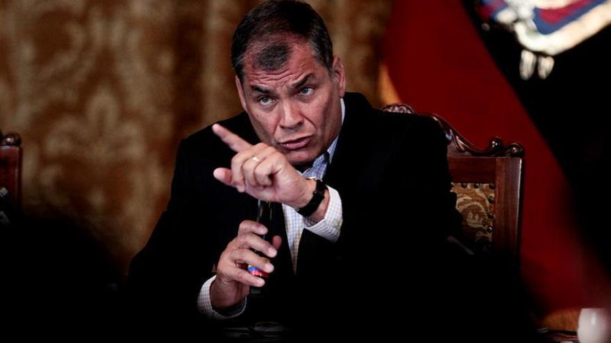 """Correa agradece a los ecuatorianos el """"privilegio"""" de haberles servido diez años"""