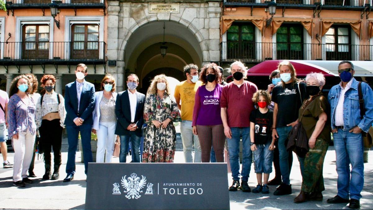 Presentación de Voix Vives 2021 en la Plaza de Zocodover de Toledo
