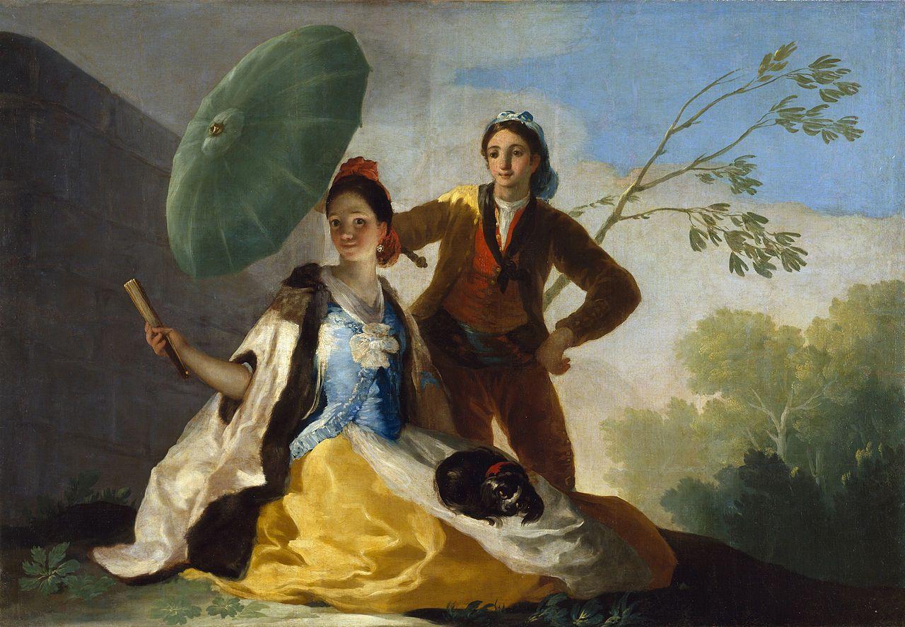 El quitasol. Cartón de Goya | - http://www.museodelprado.es