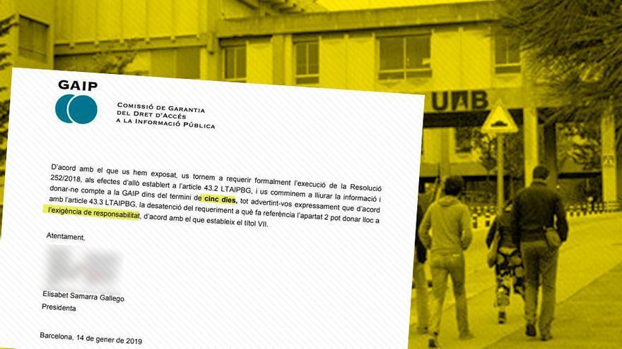 La Comisión de Transparencia lleva más de medio año exigiendo a la UAB que aporte la documentación sobre el grupo de investigación de la catedrática Teresa Freixes