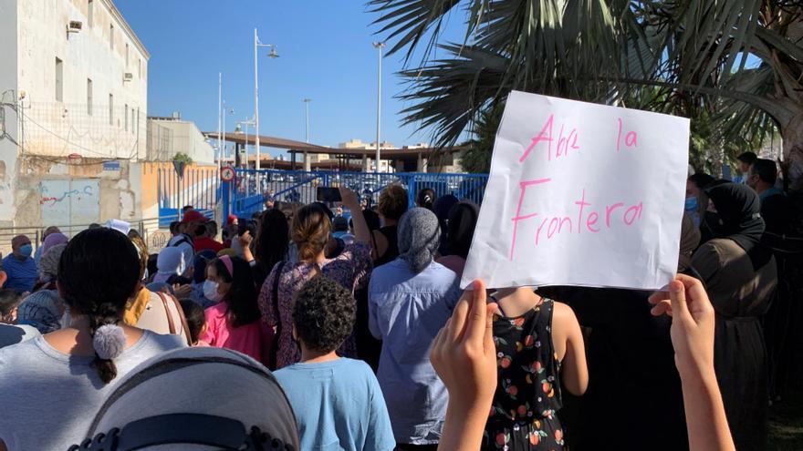 Concentración en Melilla para exigir a Marruecos que abra la frontera