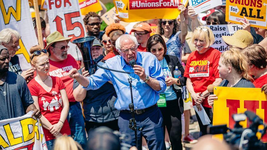 Bernie Sanders, candidadato a la preisdencia de EEUU y senador por Vermont.