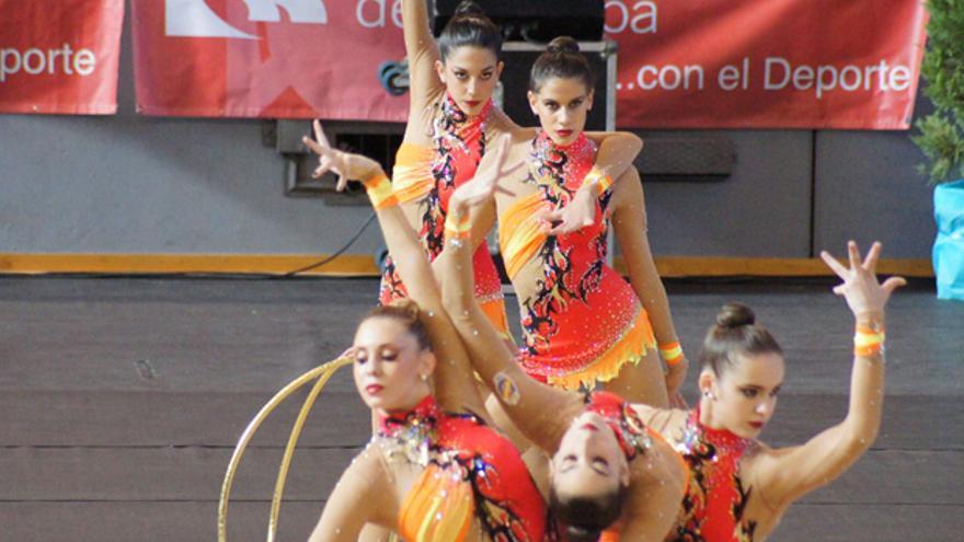 Lourdes Mohedano, en plena competición con España.