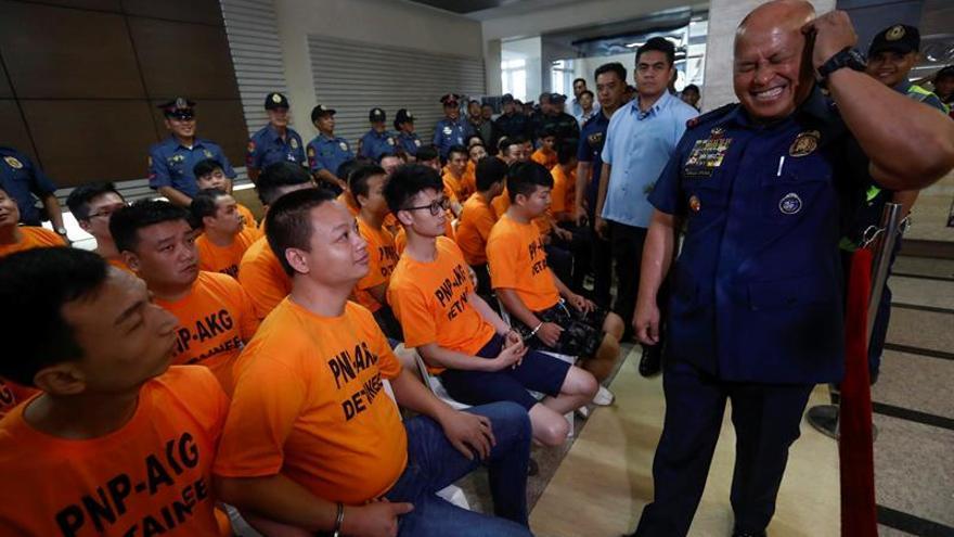 Detenidos 43 miembros de una banda china de secuestradores en Filipinas