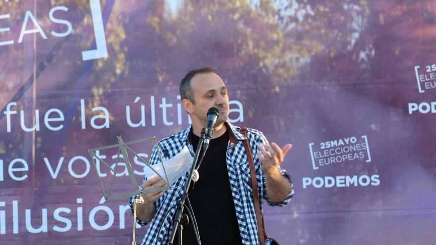 José María Copete, en un acto de Podemos. / Podemos