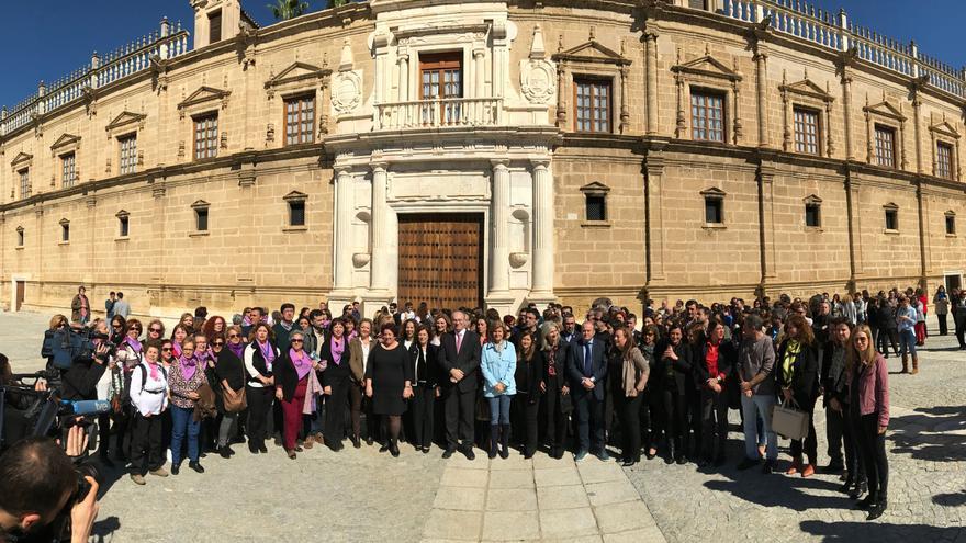 Concentración del 8 de marzo en el Parlamento de Andalucía.