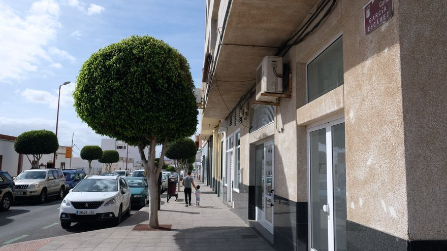 Calle en Puerto del Rosario (Fuerteventura) con el nombre del general franquista Francisco García Escámez