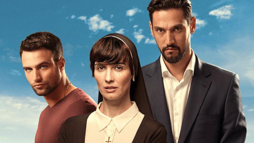 Actores de la serie de televisión 'Perdóname, señor'.