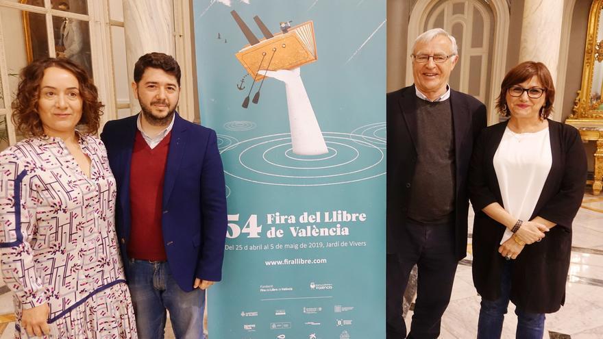 El alcalde de València, Joan Ribó, con Nacho Larraz, Carmen Amoraga y Glòria Tello